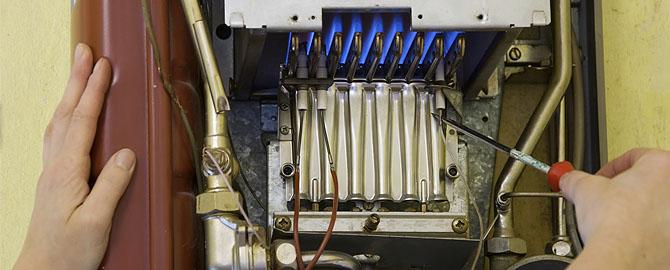 Una de las reparaciones habituales de las calderas de gas.