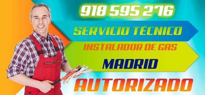 Instalador autorizado de gas Madrid