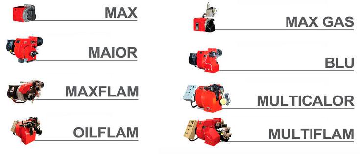 Modelos quemadores Ecoflam