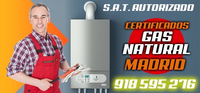 Certificados Gas Natural Madrid